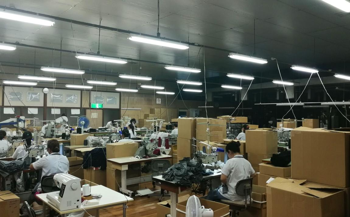 縫製場全体